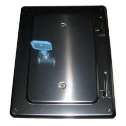 Rozsdamentes kéményajtó 120x180 mm